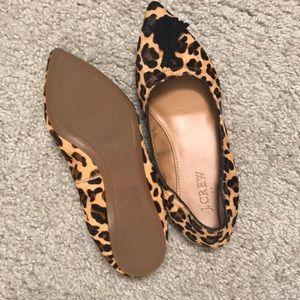 J. Crew Shoes - J Crew leopard tassel flats- size 5